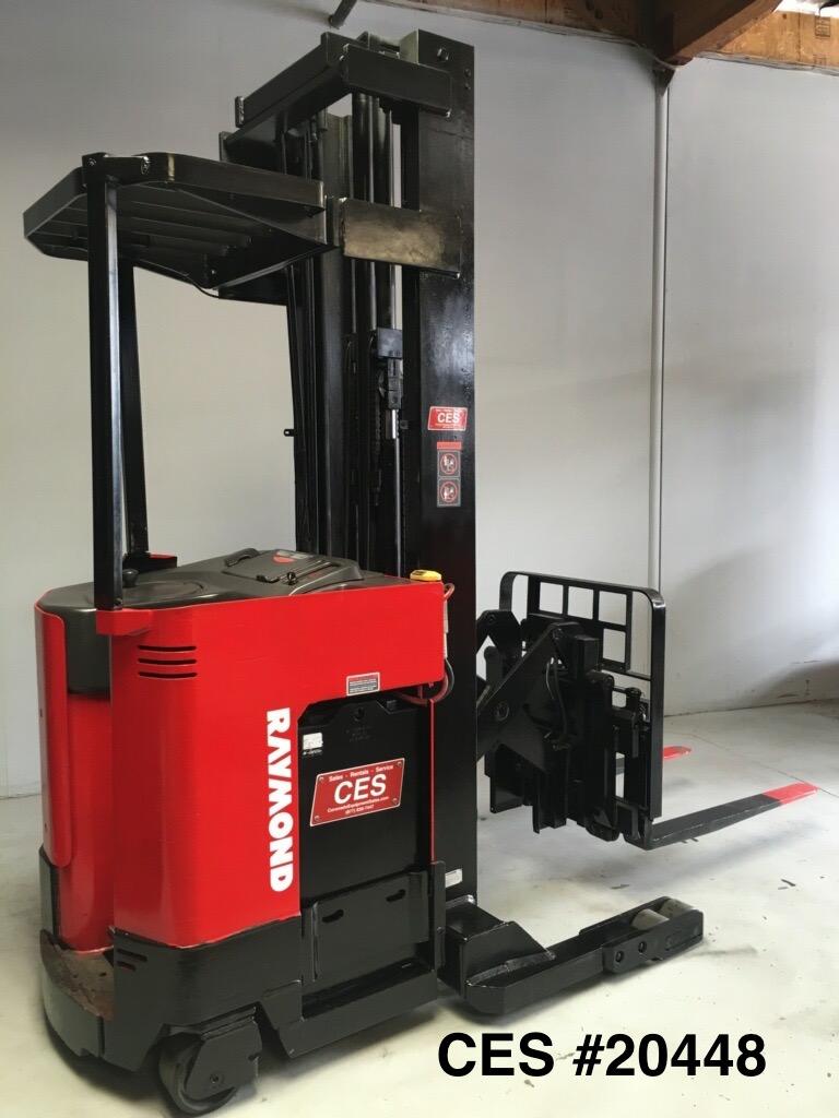 """CES #20448 Raymond EASI R35TT Reach Forklift 250"""""""