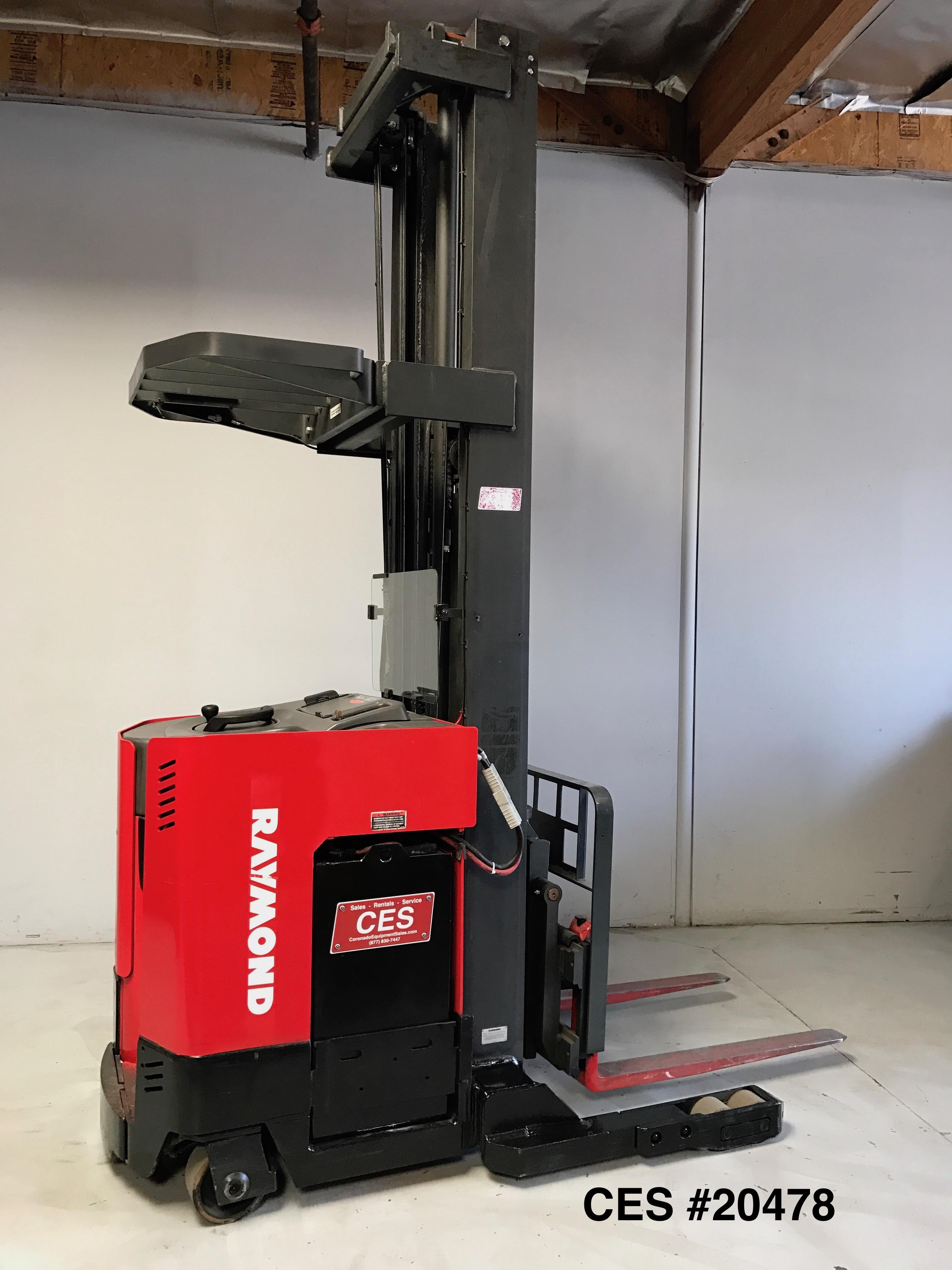 Ces 20478 Raymond Easi R40tt Reach Forklift 301