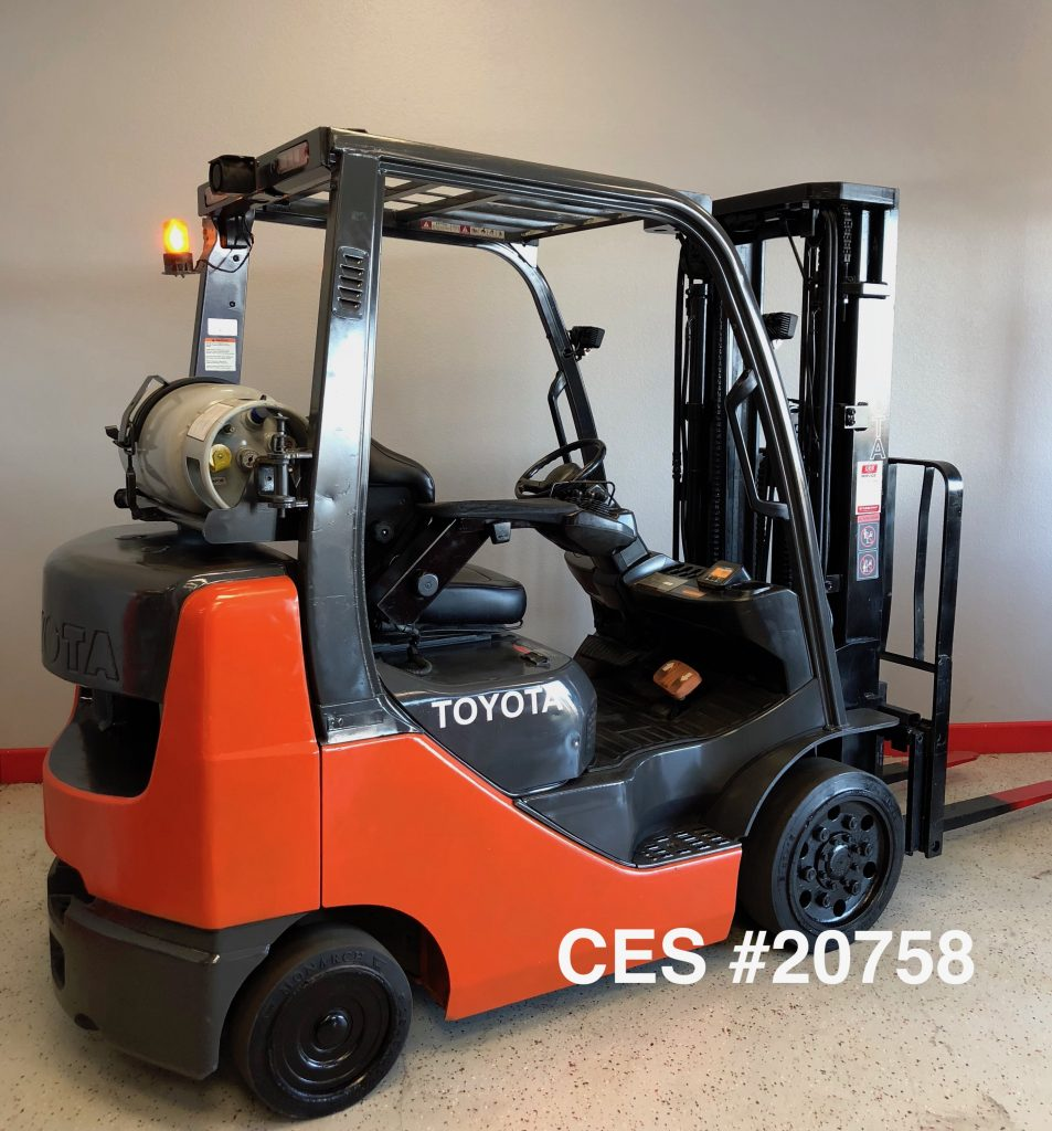 Used Pilates Equipment For Sale In Los: CES #20758 Toyota 8FGCU25 Propane Forklift