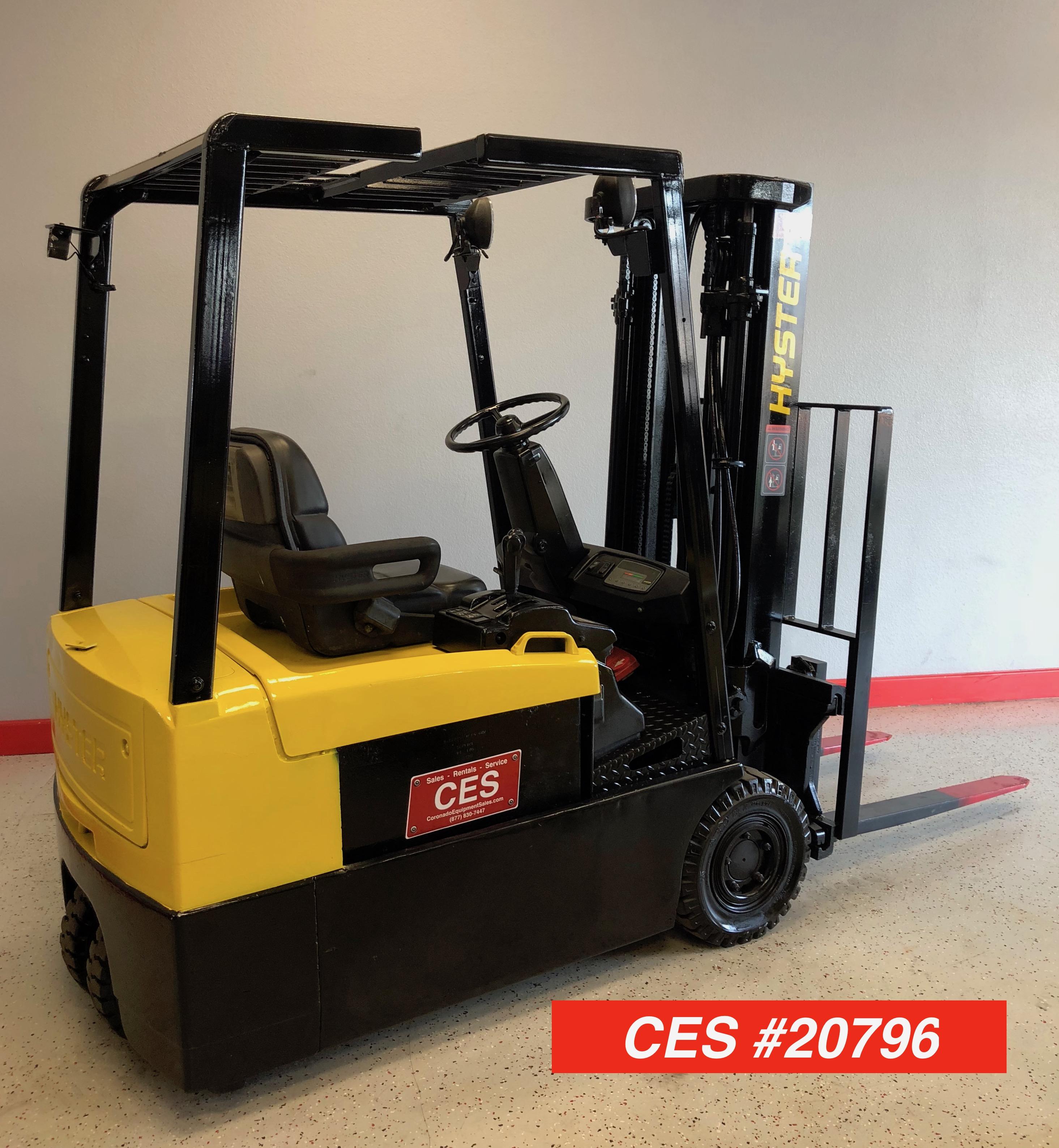 CES #20796 Hyster J40XMT2 3 Wheeler Electric Forklift