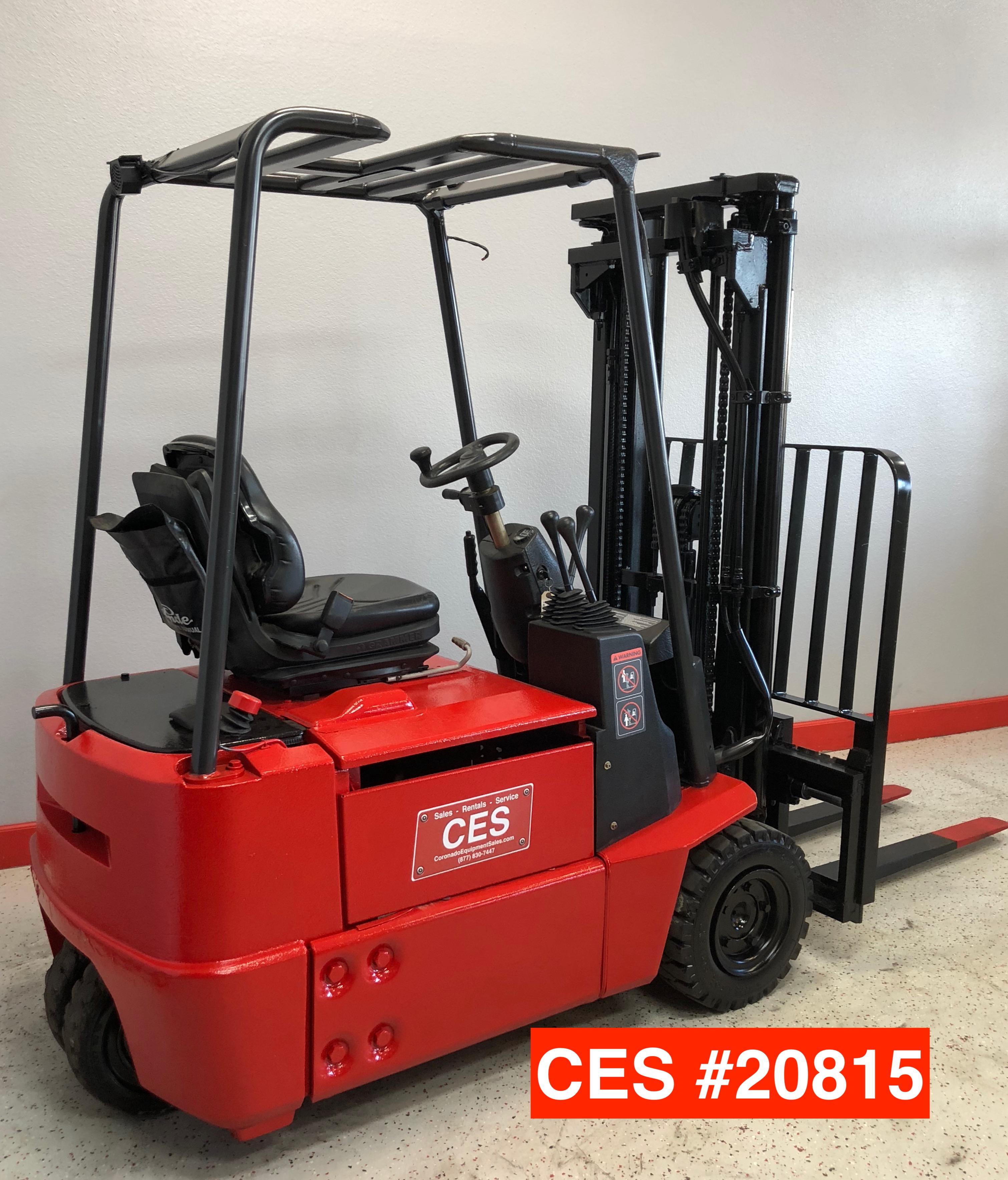 Super CES #20815 Linde E15 3 Wheel Electric Forklift #JM_77