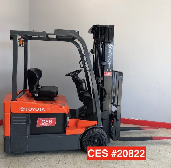 used Toyota 3 Wheel Electric Forklift