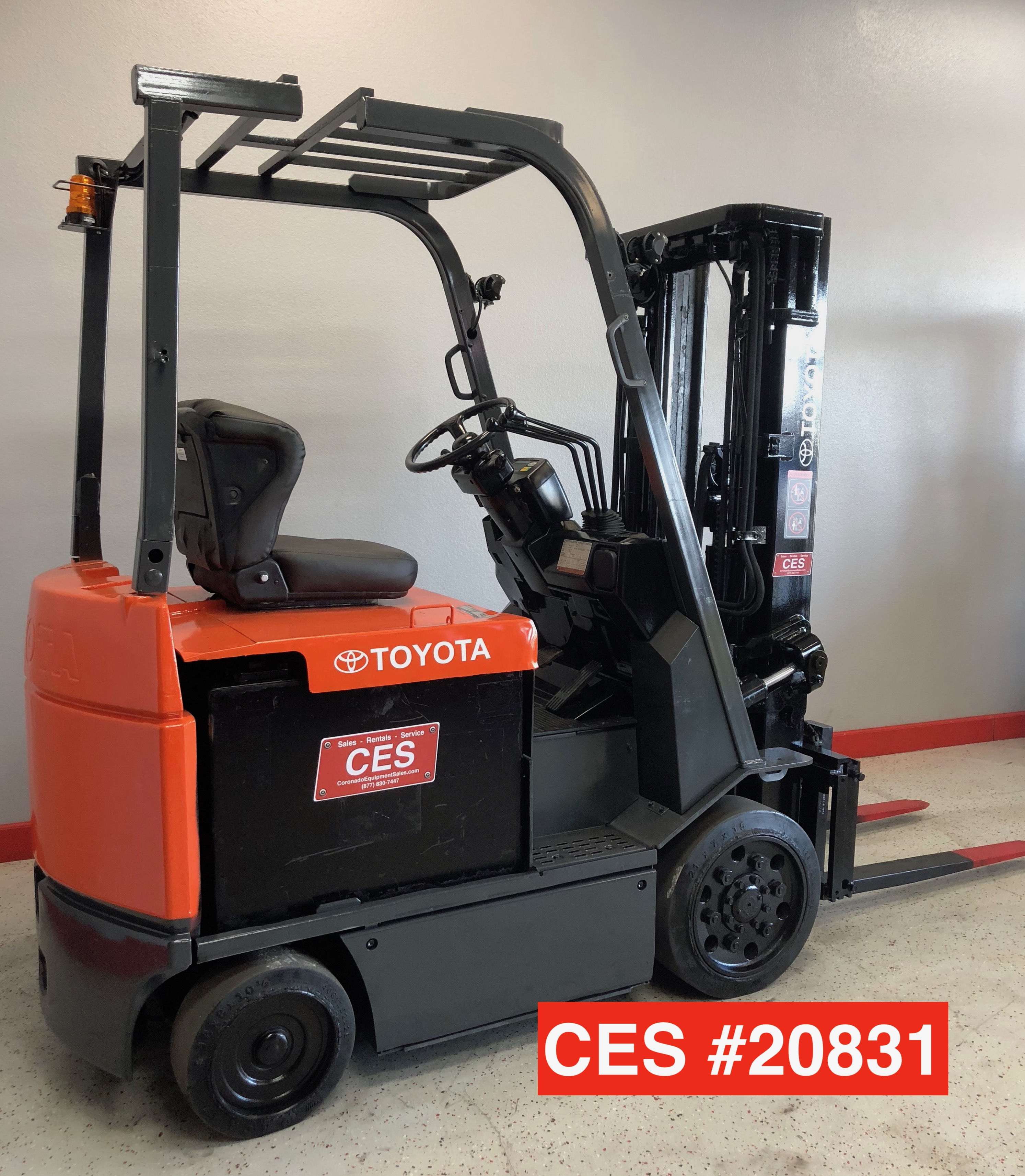 Used Toyota Under 5000: CES #20831 Toyota 7FBCU25 Electric Forklift