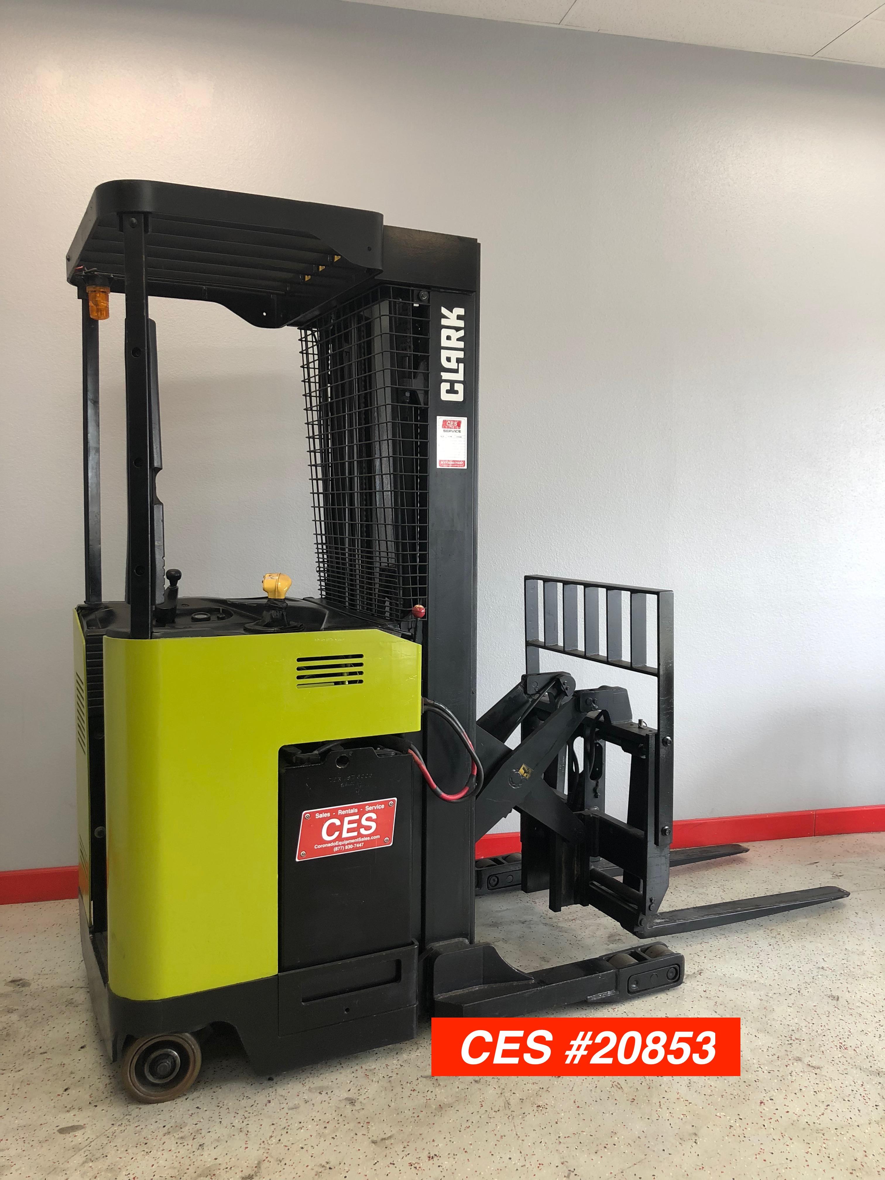 Ces 20853 Clark Npr20 Reach Forklift Coronado Equipment