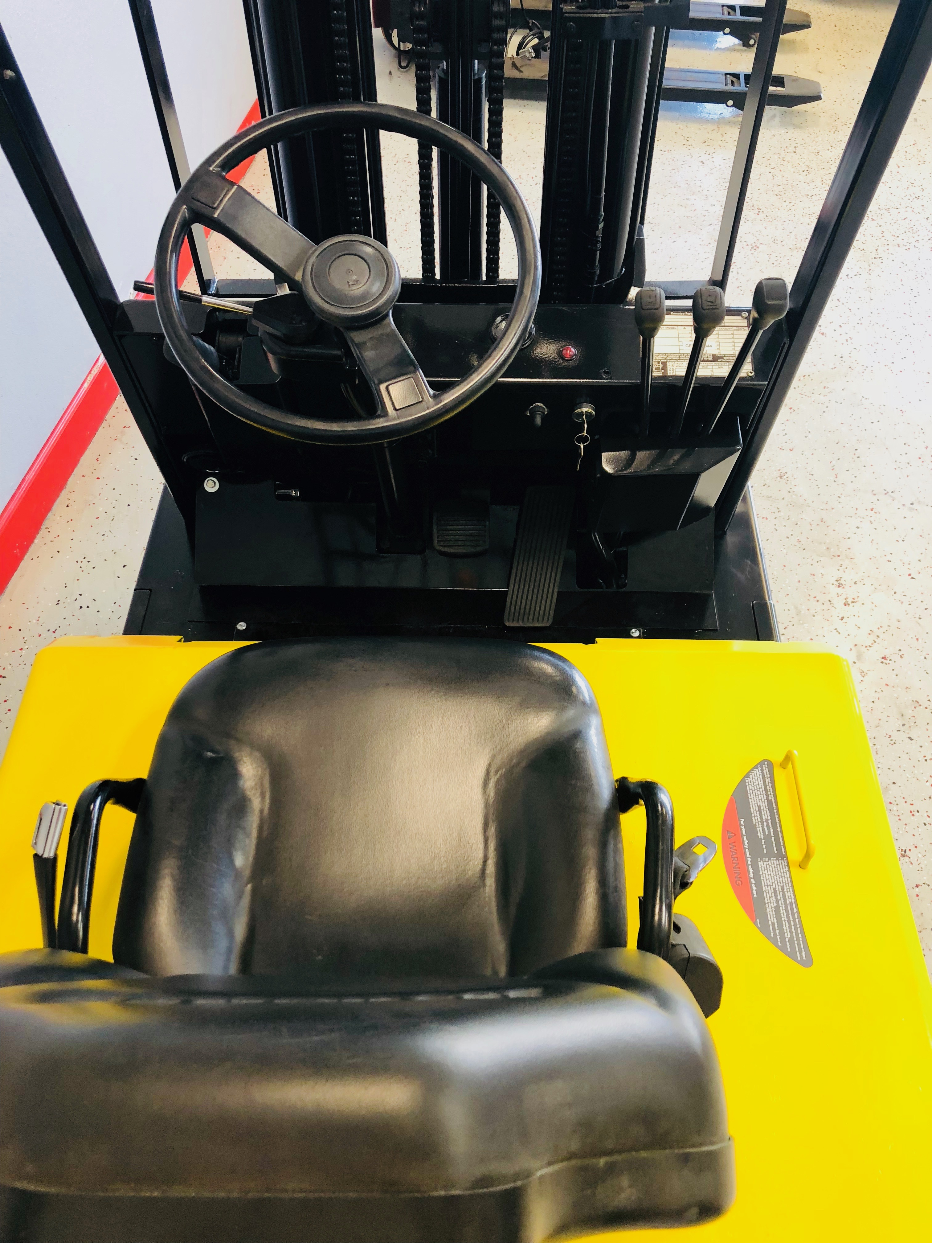 Sit Down Fork Lift Controls : Used komatsu fb m wheel electric reconditioned