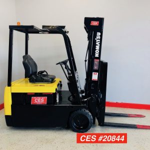 Used Komatsu FB15M-3 3 Wheel Electric Reconditioned Electric Forklift