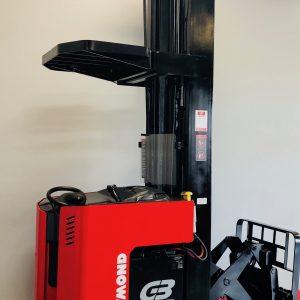 Used Raymond R40TT Reach Stand Up Deep Reach Narrow Aisle Forklift