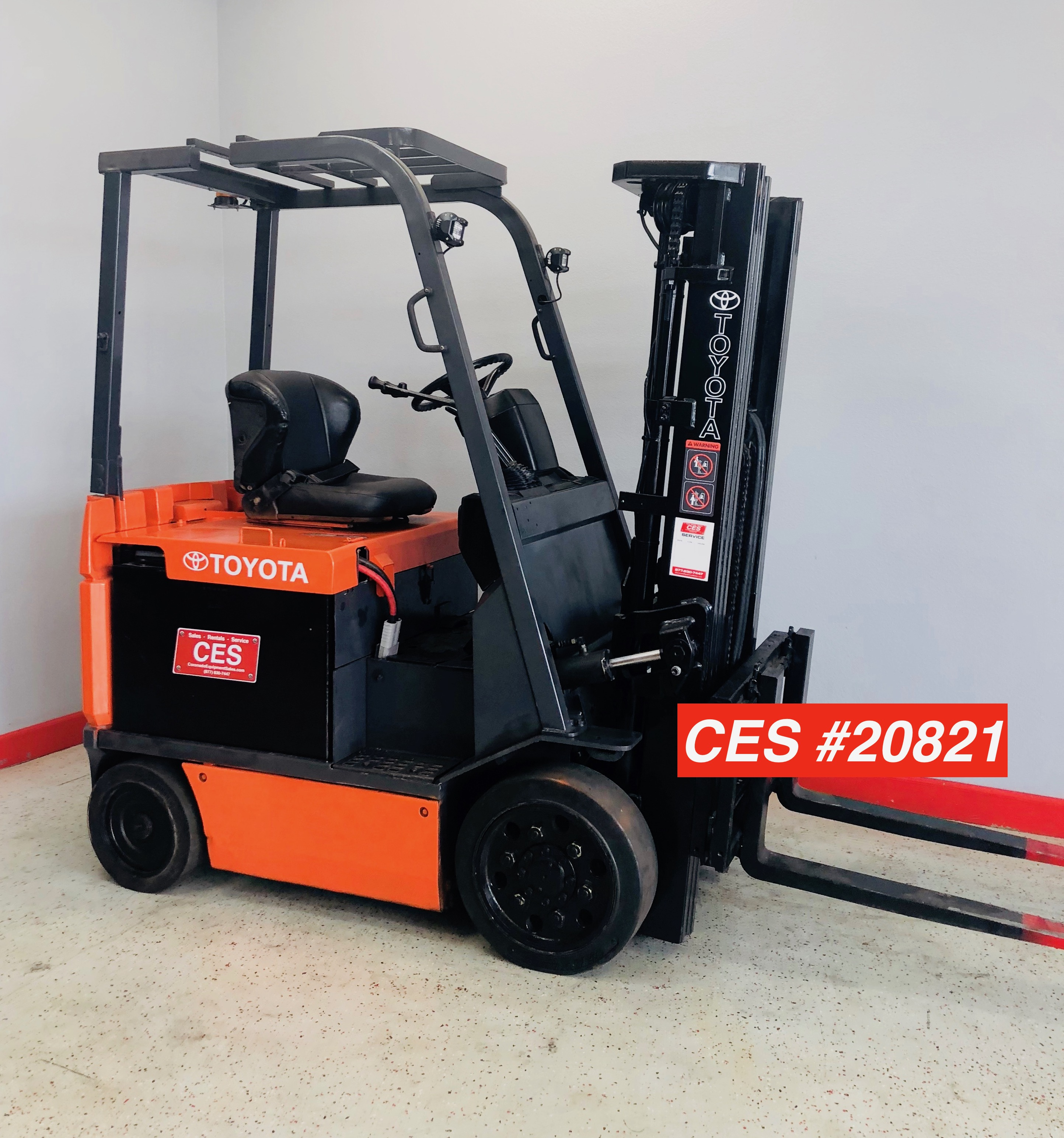 Used Toyota Under 5000: CES #20821 Toyota 7FBCU25 Electric Forklift