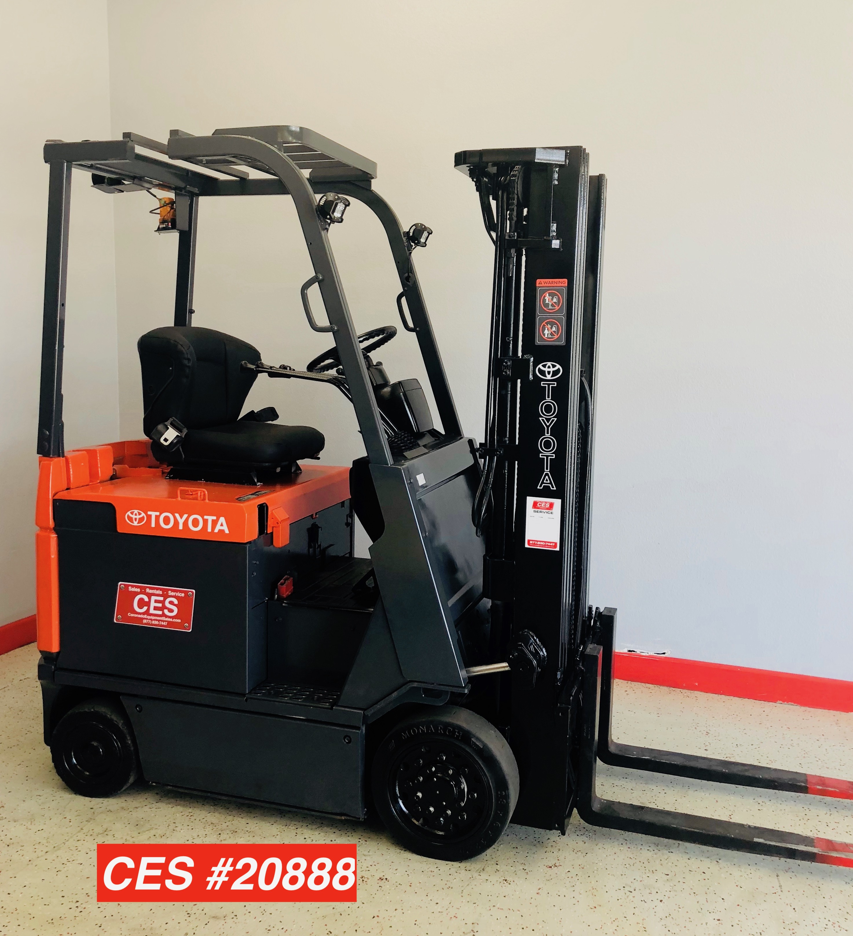 Toyota Forklift For Sale: Ces #20888 Toyota 7Fbcu18 Electric