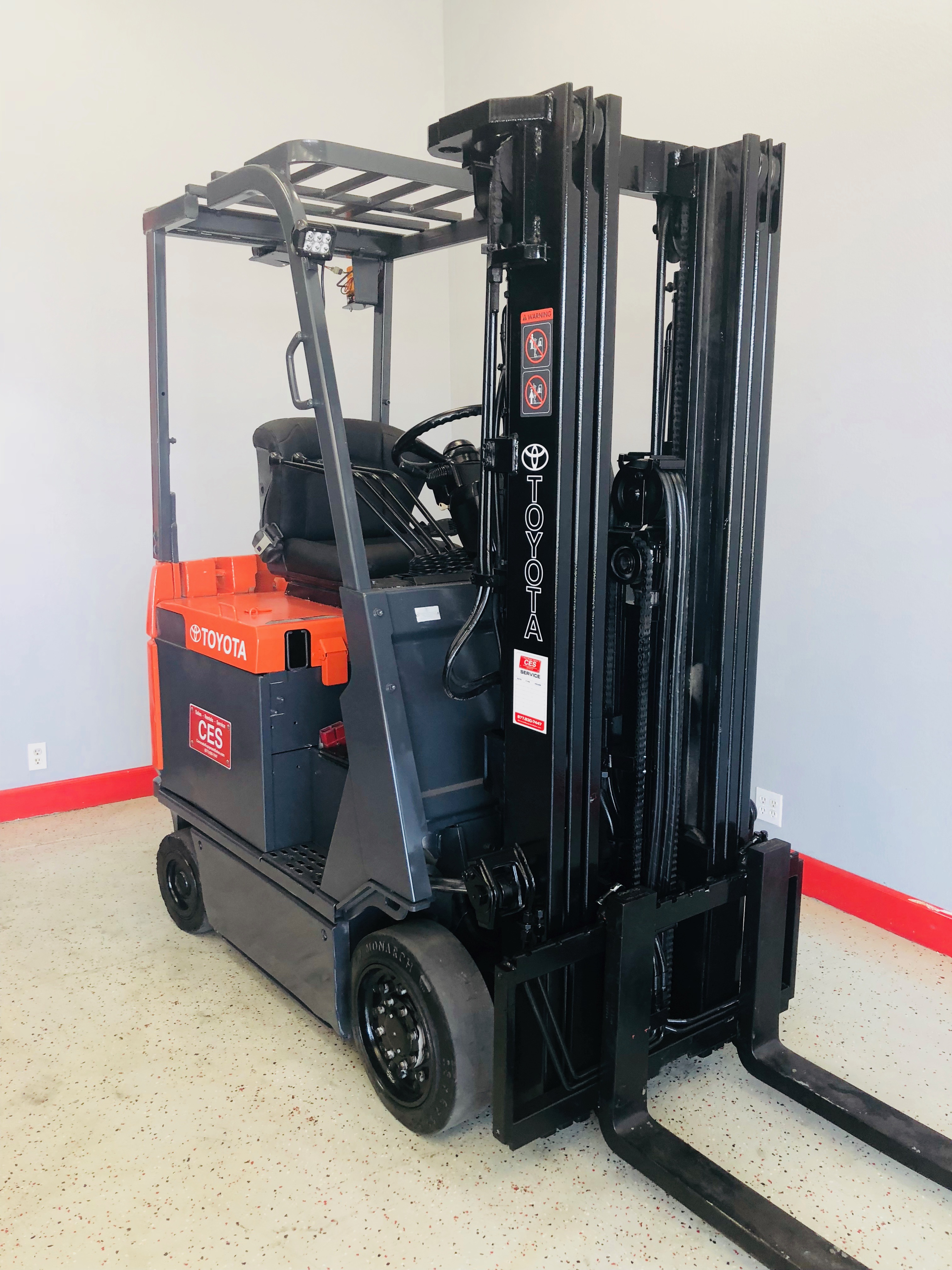 Used Toyota Forklift Ces 20888 Toyota 7fbcu18 Electric