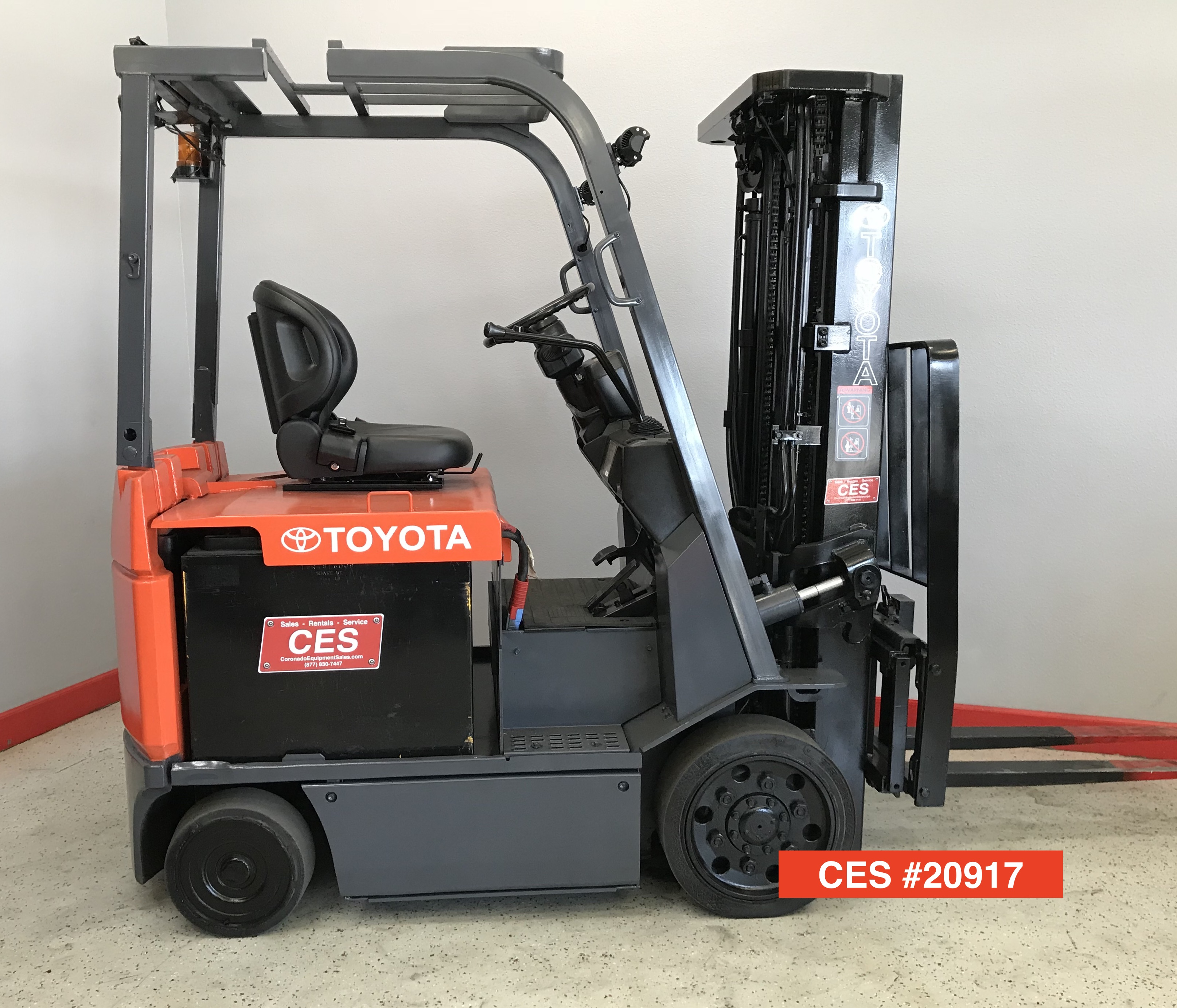 Used Toyota Under 5000: CES #20917 Toyota 7FBCU20 Electric Forklift