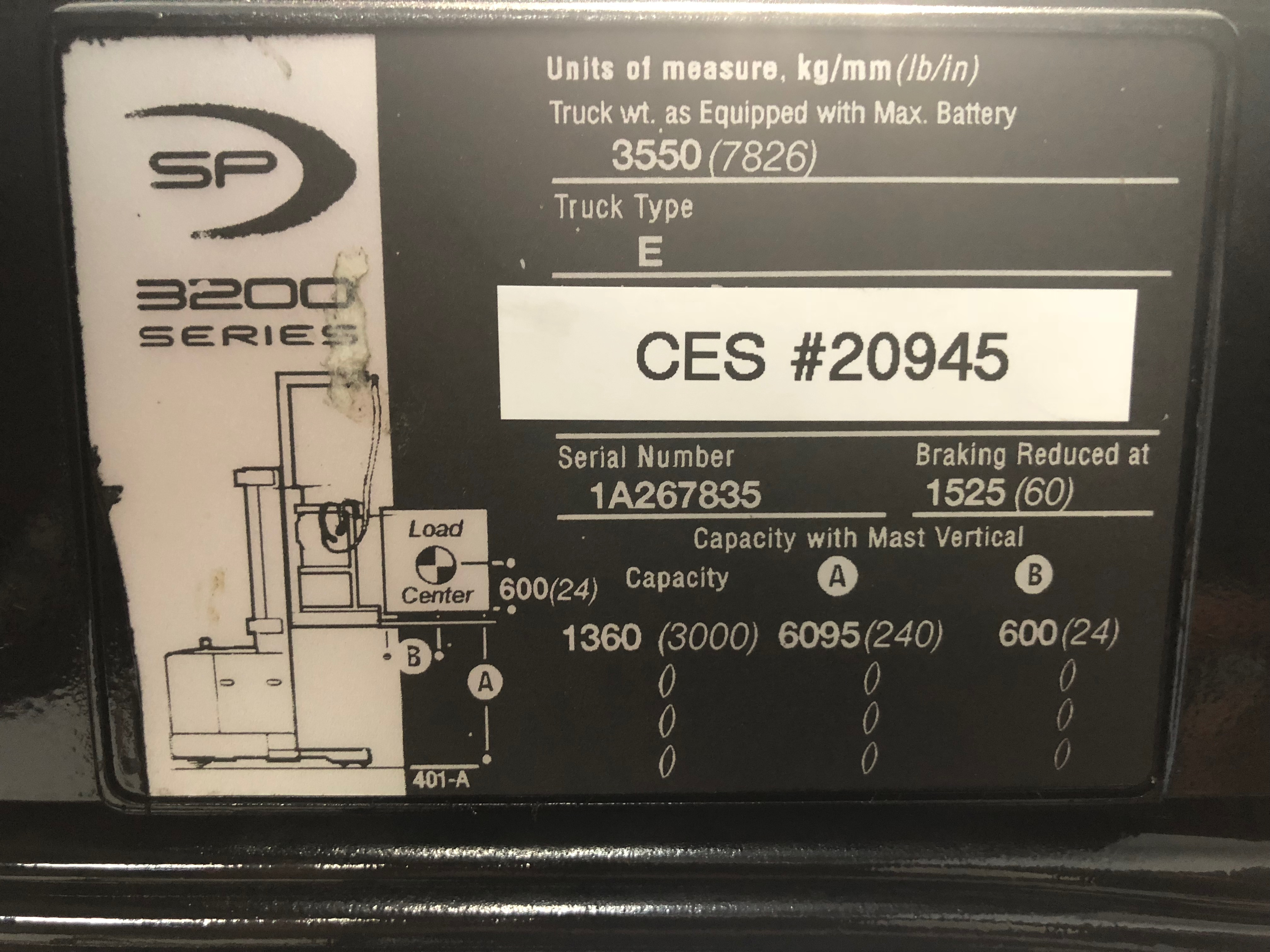 Used Forklift - CES #20945 Crown SP3020-30 Order Picker W