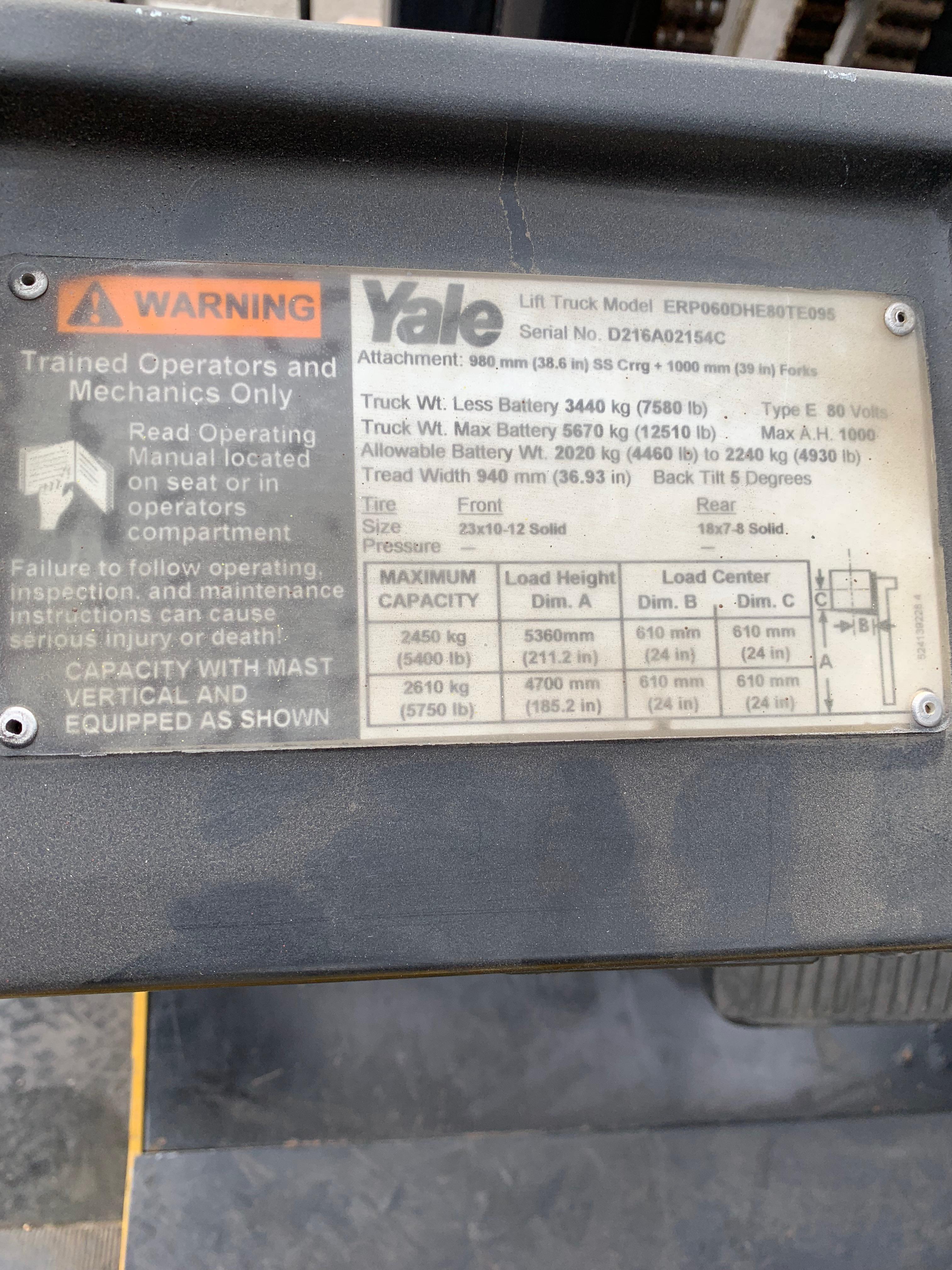 Ces 21033 Yale Erp060 Electric Pneumatic Forklift Coronado Wiring Diagram