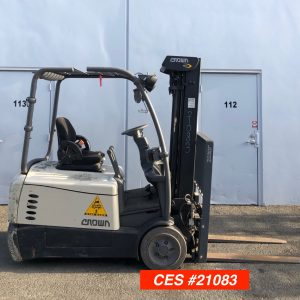Used Crown Electric Forklift. 3 Wheel Electric Forklifts