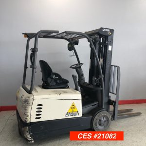 Used Crown Electric Forklift - 3 Wheel Forklift