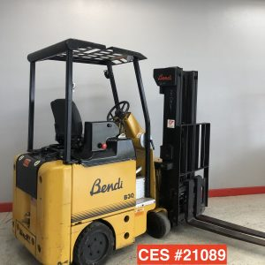 Bendi electric turret forklift for sale! This used electric forklift is in great condition!