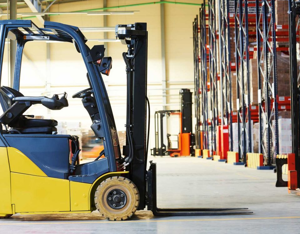 Is it safe to use a Toyota electric forklift in the rain?