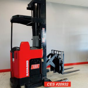 Image of a reconditioned Raymond reach forklift