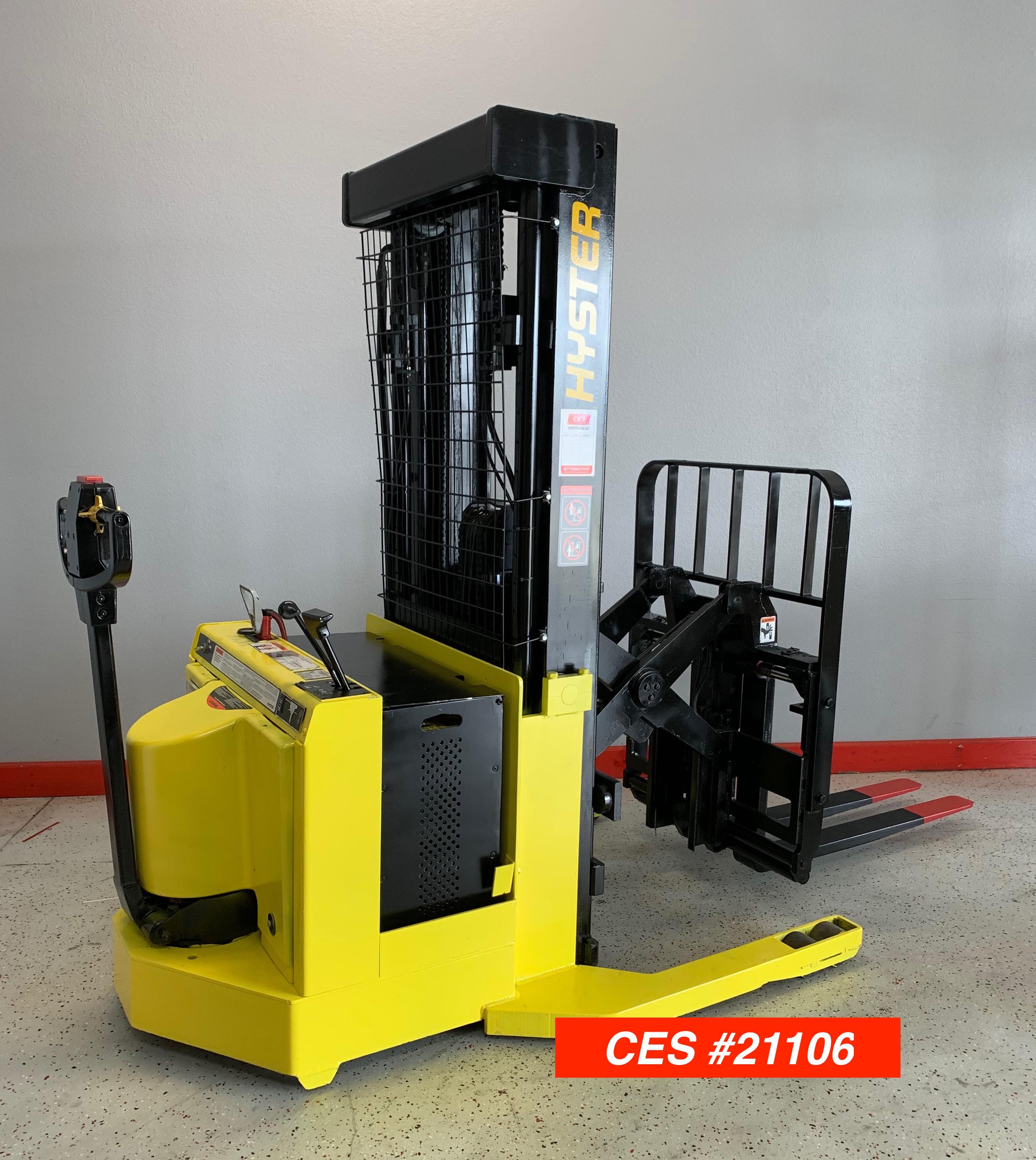 Ces 21106 Hyster W30xtr Walkie Reach Stacker Forklift