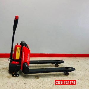 Image of a used Noblelift electric pallet jack by Noblelift. This pallet jack is lithium powered is packed with power and other great features.