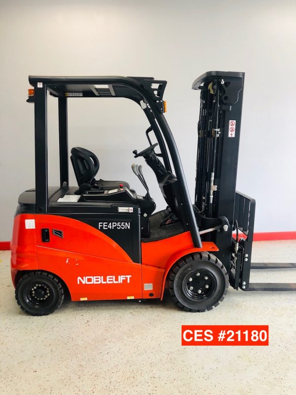 Image of a like-new Noblelift electric pneumatic forklift from Coronado Equipment Sales.