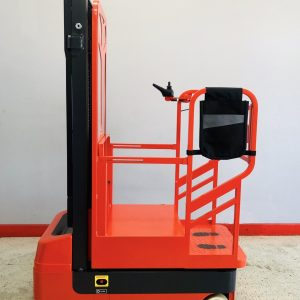 Image of a used Noblelift order picker. This electric order picker has been professionally reconditioned to ensure quality performance.
