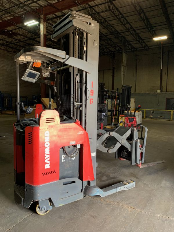 Used deep reach forklift by Raymond. This deep reach forklift has been professionally reconditioned to ensure quality performance.