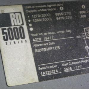 "CES #21191 Crown RD5000 Deep Reach Forklift 273"""
